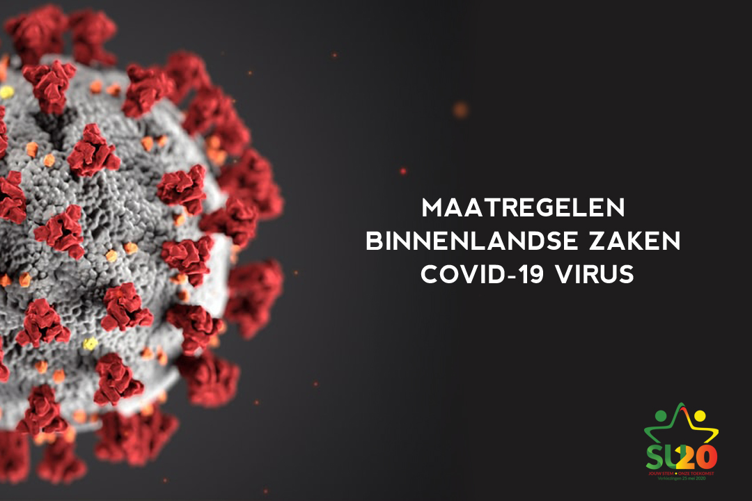 Maatregelen Binnenlandse Zaken i.v.m. Covid-19 virus